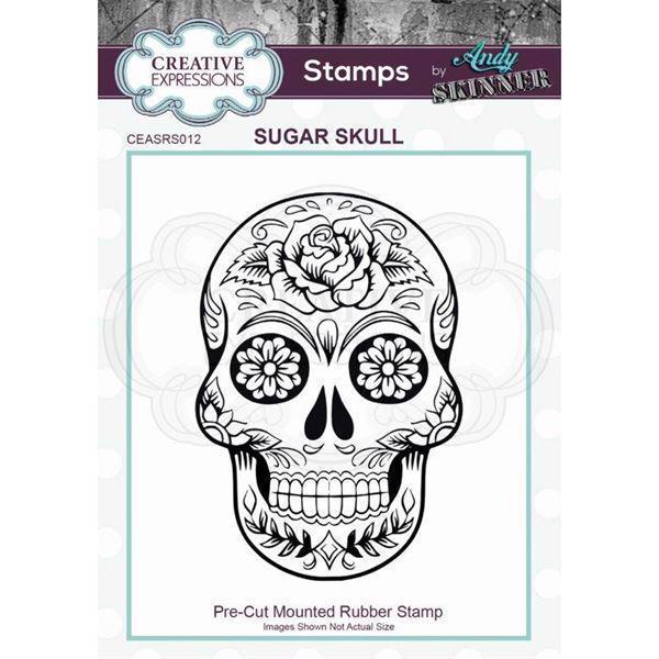 Creative Expressions Cling Stamp - Andy Skinner / Sugar Skull