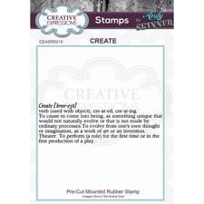 Creative Expressions Cling Stamp - Andy Skinner / Create