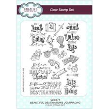 Creative Expressions  Clear Stamp Set - Beautiful Desitnations Journaling