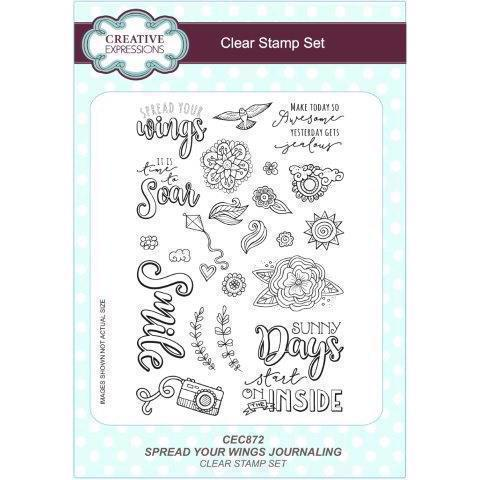 Creative Expressions  Clear Stamp Set - Spread Your Wings Journaling