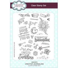 Creative Expressions  Clear Stamp Set - Creative Journaling