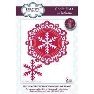 Creative Expressions  Die - Festive Collection / Bold Snowflake Frame