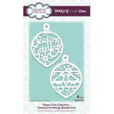 Creative Expressions  Die - Paper Cuts Collection / Seasons Greetings Bauble Duo