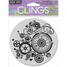 Cling Stamp - Watch Gears