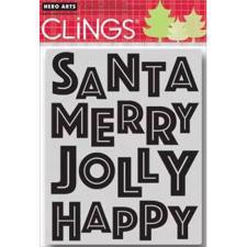 Cling Stamp - Happy (Holidays 2012)