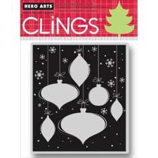 Cling Stamp - Snowflakes & Ornaments