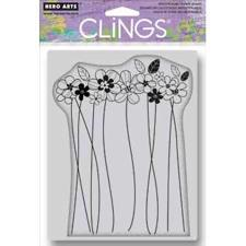 Cling Stamp - Tall Flowers