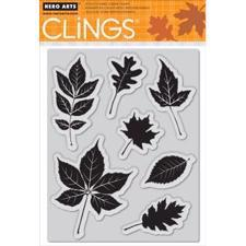 Hero Arts Cling Stamp - Scattering Leaves