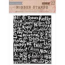 Hero Arts Cling Stamp - Chalkboard Background