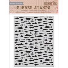 Hero Arts Cling Stamp - Fish Background