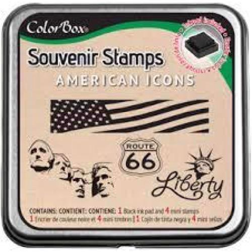 ColorBox Souvenir Stamp Set + Ink - USA