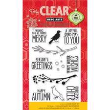 Hero Arts Clear Stamp Set - Bird & Branch Christmas