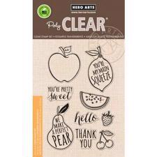 Hero Arts Clear Stamp Set - Stamp Your Own Fruit