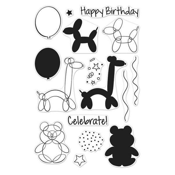 Hero Arts Clear Stamp Set - Balloon Animal Birthday