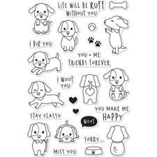 Hero Arts Clear Stamp Set - Woof (hunde)