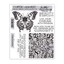 Tim Holtz Cling Rubber Stamp Set - Perspective