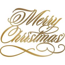 Couture Creations Foil Stamp Die - Merry Christmas