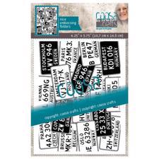 Coosa Crafts Embossing Folder - License Plates