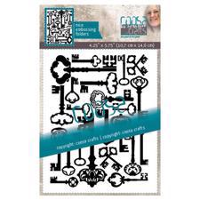 Coosa Crafts Embossing Folder - Multi Keys