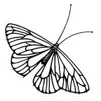 Cling Stamp - Single Butterfly