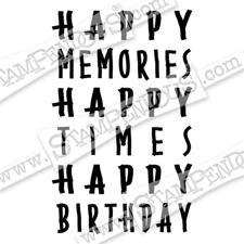 Stampendous Cling Stamp - Happy Memories