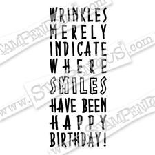 Stampendous Cling Stamp - Birthday Wrinkles