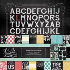 "My Minds Eye Paper & Accessories Kit 12x12"" - Chalk Studio 2"