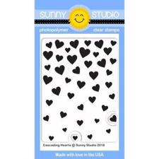 Sunny Studio Stamps - Clear Stamp / Cascading Hearts