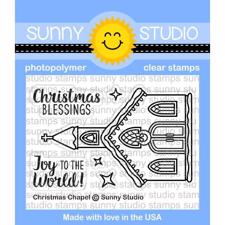 Sunny Studio Stamps - Clear Stamp / Christmas Chapel