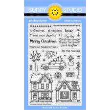 Sunny Studio Stamps - Clear Stamp / Christmas Home