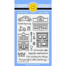 Sunny Studio Stamps - Clear Stamp / City Streets