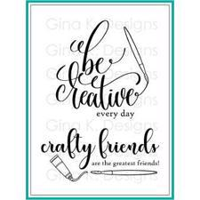 Gina K Design Clear Stamps - Crafty & Creative