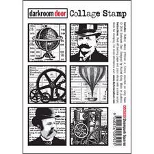 Darkroom Door Stamp - Collage Stamp / Steampunk Squares