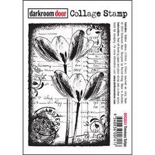 Darkroom Door Stamp - Collage Stamp / Timeless Tulips