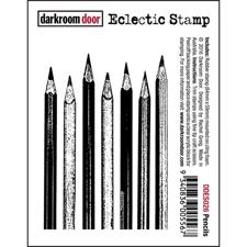 Darkroom Door Cling Stamp - Pencils