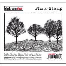 Darkroom Door Stamp - Photo Stamp / Tree Line