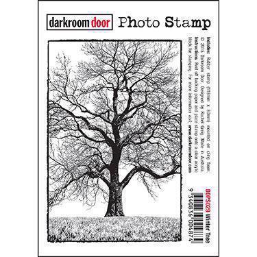 Darkroom Door Stamp - Photo Stamp / Winter Tree