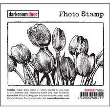 Darkroom Door Stamp - Photo Stamp / Tulips