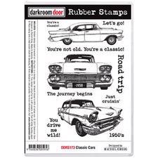 Darkroom Door Stamp - Rubber Stamp Set / Classic Cars Vol. 1