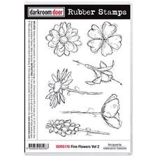 Darkroom Door Stamp - Rubber Stamp Set / Fine Flowers Vol. 2