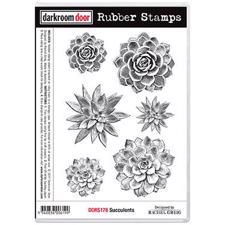 Darkroom Door Stamp - Rubber Stamp Set / Succulents