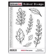 Darkroom Door Stamp - Rubber Stamp Set / Fine Leaves