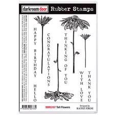 Darkroom Door Stamp - Rubber Stamp Set / Tall Flowers