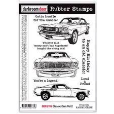 Darkroom Door Stamp - Rubber Stamp Set / Classic Cars Vol. 2