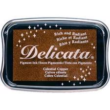 Delicata Pigment Ink Pad - Metallic Celestial Copper