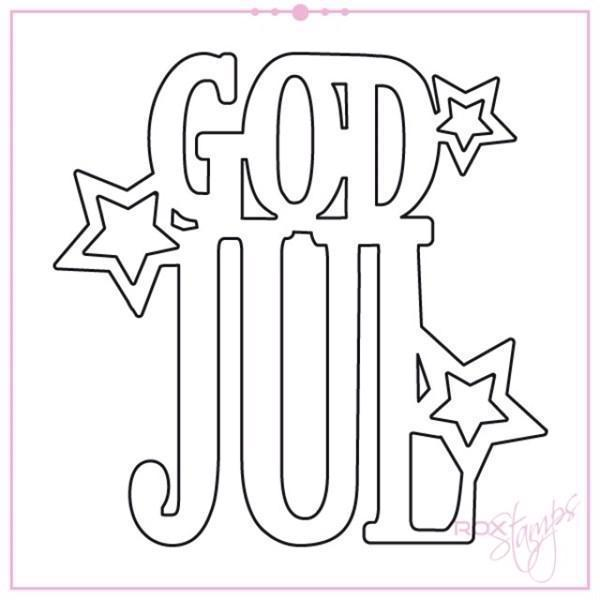 Rox Stamps Die - God Jul m. Stjerner
