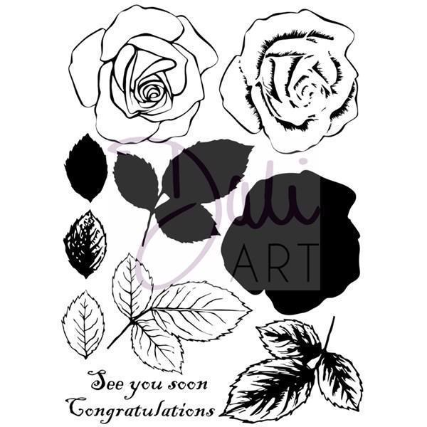 DaliART Clear Stamp Set - Rose Layering