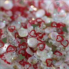 Dress My Crafts Sequins - Red Hearts