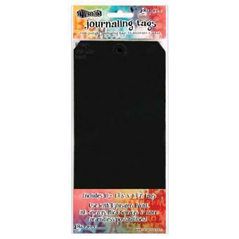 Dylusion - Journaling Tags / #10 Black