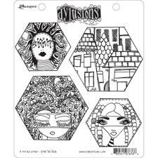 Cling Rubber Stamp Set - Dylusions / A Head Start